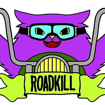 Roadkill Cat Biker by ruckus666
