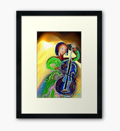 The Passionate  Cello Player Framed Print