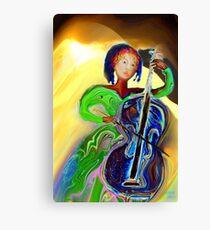 The Passionate  Cello Player Canvas Print