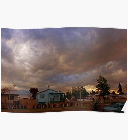 Dusk in suburbia Poster