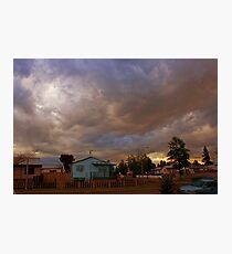 Dusk in suburbia Photographic Print