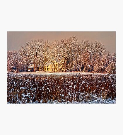 Snow Covered Farm Field Photographic Print