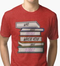 Book Lover Design Tri-blend T-Shirt
