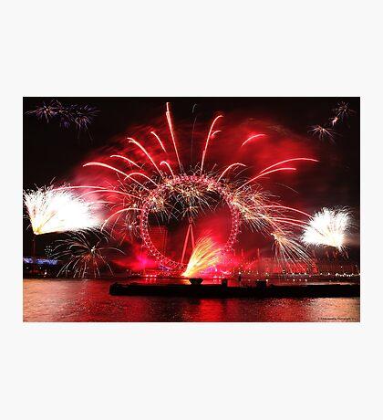New Year Red Eye Photographic Print