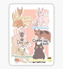 Super Cute Coffee Cat Collection Sticker