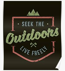Seek The Outdoors - Hunting Poster