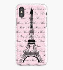Pink Paris Eiffel Tower iPhone Case/Skin