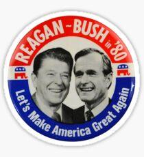 Reagan Bush 1980 Sticker