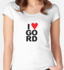 """""""I Love Gord"""" Heart Design inspired by Gord Downie of the Tragically Hip Women's Fitted Scoop T-Shirt"""