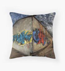 Desert Graffiti Throw Pillow