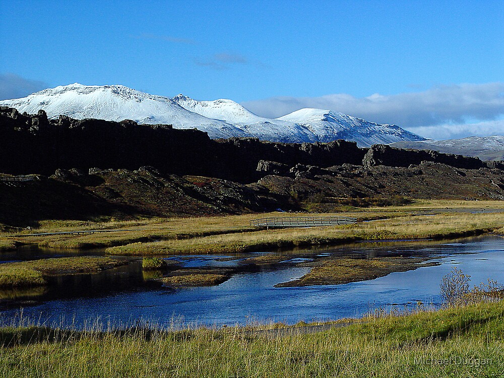 Mountain and Stream Iceland by Michael Duggan