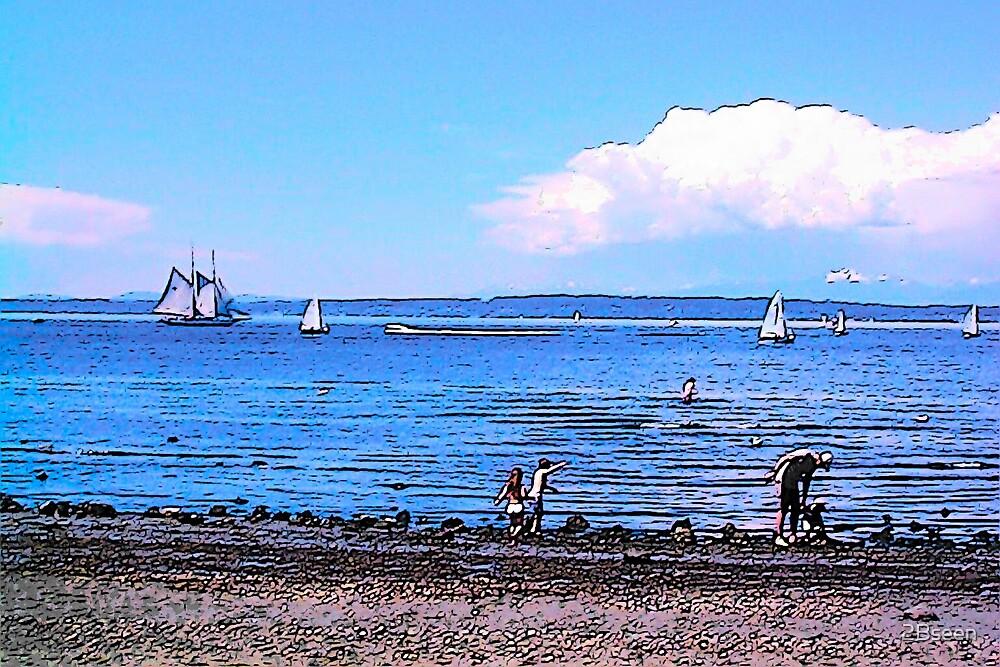 Grandckids at the Beach by 2Bseen