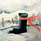 Happy Snow Boot  by Ilunia Felczer