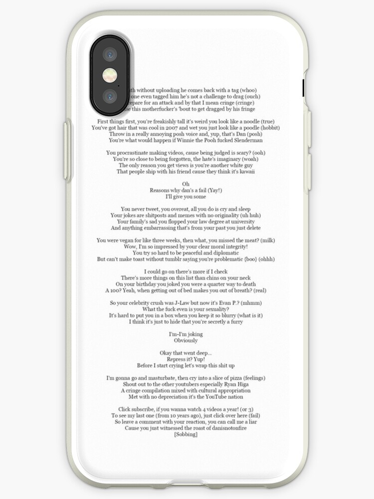 'Dans Diss Track' iPhone Case by AmazingCas