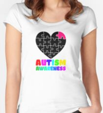 Autism awareness T shirt Women's Fitted Scoop T-Shirt