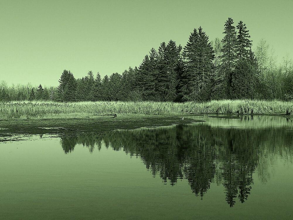 Landscape In Green 1 by Gene Cyr