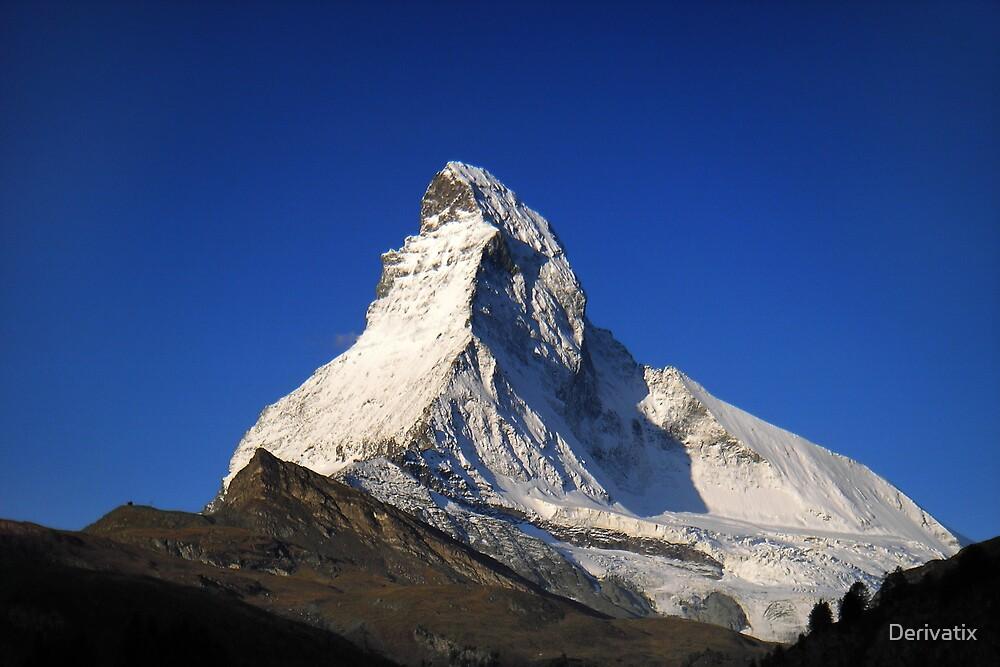 Early morning view at the Matterhorn by Derivatix