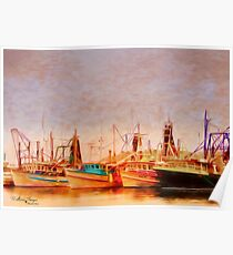 Coffs Harbour Fishing Trawlers Poster