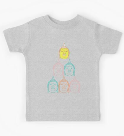 Oriental Buddha's Smile Zen Colorful Pop Art Kids Clothes