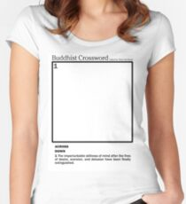 Buddhist Crossword Women's Fitted Scoop T-Shirt