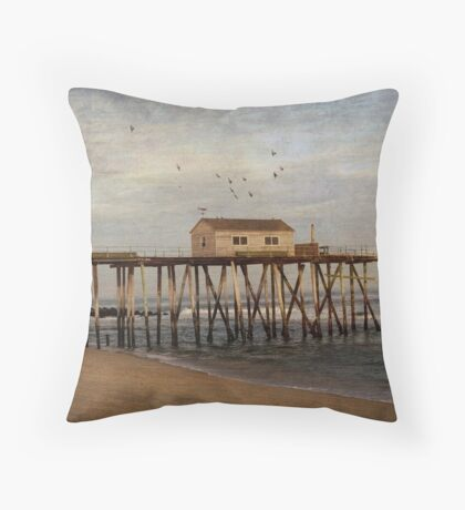 Belmar Fishing Pier Throw Pillow