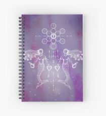 Mermaid White Warrior Series Boho Print Illustration Dreamcatcher Sacred Geometry The Heart Temple Spiral Notebook