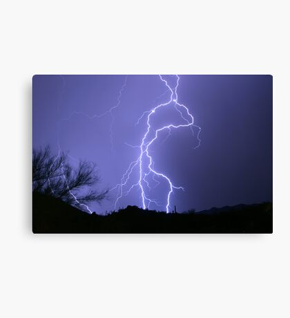 Desert Lightning Canvas Print