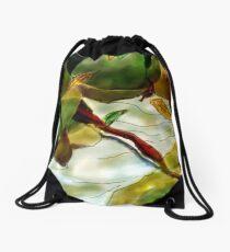 Rocks and leaves abstract Drawstring Bag