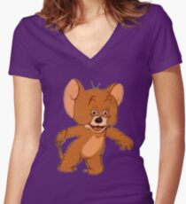 POLISH JERRY  Women's Fitted V-Neck T-Shirt