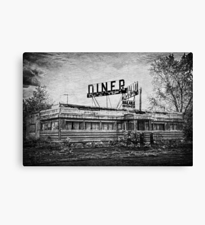 Diner in B&W Canvas Print