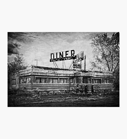Diner in B&W Photographic Print