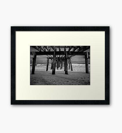 Under the Ocean Grove Boardwalk  Framed Print