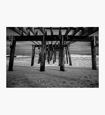 Under the Ocean Grove Boardwalk  Photographic Print