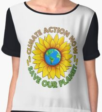 People's Climate Change March on Washington Justice 2017 Women's Chiffon Top