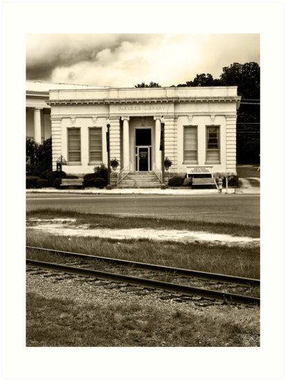 The Old Carnegie Library - Montezuma, Georgia by Mark Tisdale
