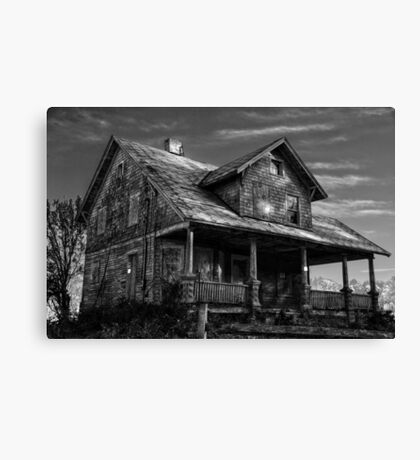 Abandoned in Black & White Canvas Print