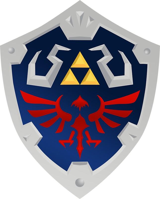 Quot Zelda Hylian Shield Quot Stickers By Jaelachan Redbubble