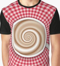 Coffee cup on red gingham tablecloth Graphic T-Shirt