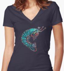 Mantis Shrimp Women's Fitted V-Neck T-Shirt