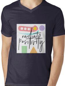 Radiate Positivity Mens V-Neck T-Shirt