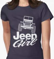 Jeep Girl Womens Fitted T-Shirt
