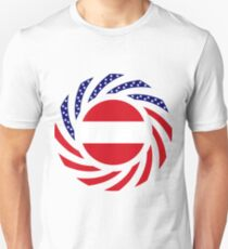 Austrian American Multinational Patriot Flag Series Slim Fit T-Shirt