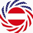 Austrian American Multinational Patriot Flag Series by Carbon-Fibre Media