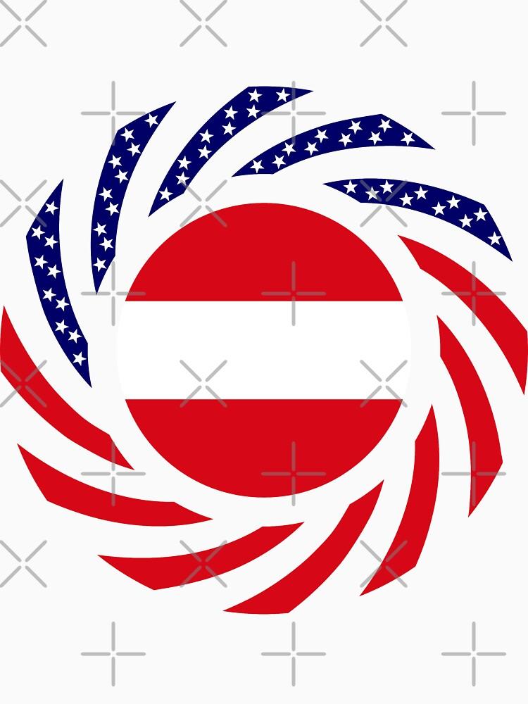 Austrian American Multinational Patriot Flag Series by carbonfibreme