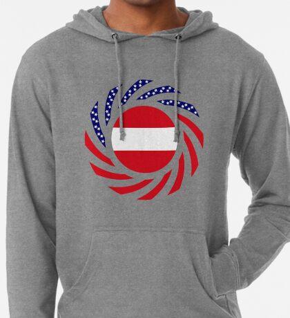 Austrian American Multinational Patriot Flag Series Lightweight Hoodie