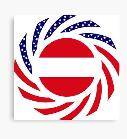 Austrian American Multinational Patriot Flag Series Canvas Print