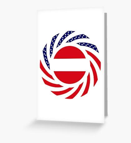 Austrian American Multinational Patriot Flag Series Greeting Card