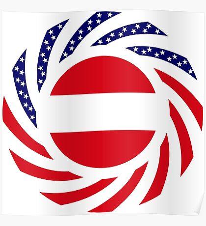 Austrian American Multinational Patriot Flag Series Poster