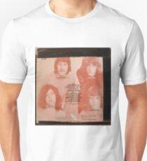Vintage Rock album with black tape on cover, back Unisex T-Shirt