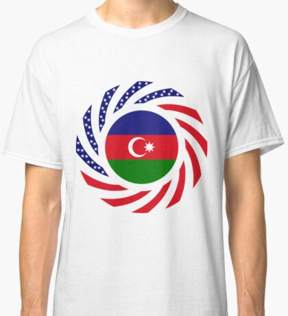 Azerbaijani American Multinational Patriot Flag Series Classic T-Shirt